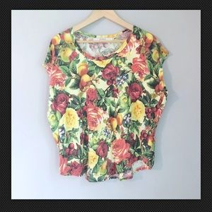 Joyrich Floral short sleeve top SMALL